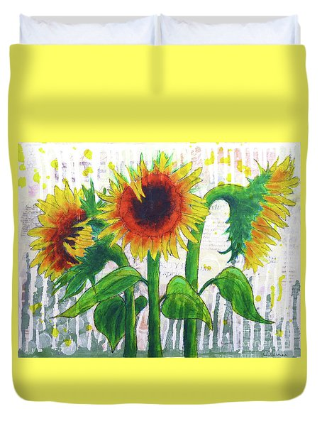 Sunflower Sonata Duvet Cover