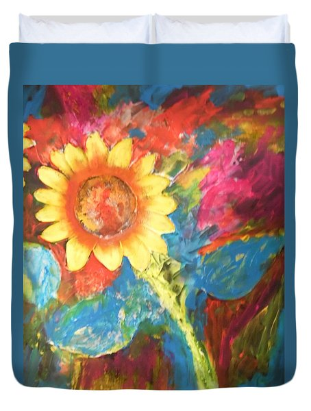 Sunflower Song Duvet Cover by Esther Newman-Cohen