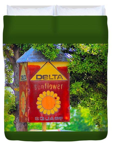 Sunflower Square Duvet Cover