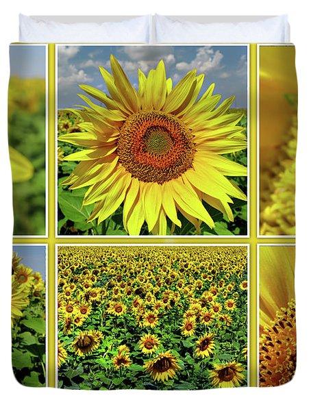 Sunflower Story - Collage Duvet Cover