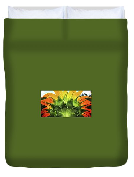 Sunflower Sunburst Duvet Cover