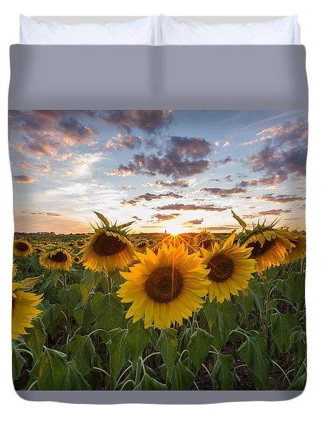 Sunflower Sunset Duvet Cover