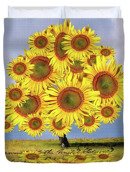 Sunflower Tree Duvet Cover