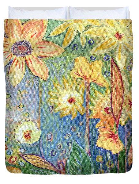 Sunflower Tropics Part 3 Duvet Cover