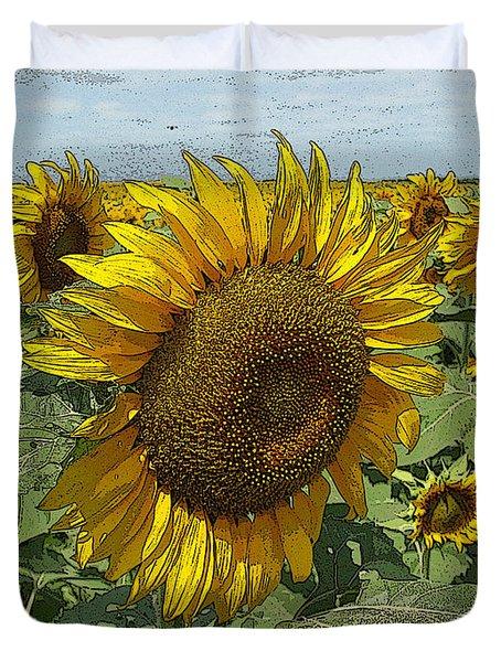 Sunflower Van David Style Duvet Cover