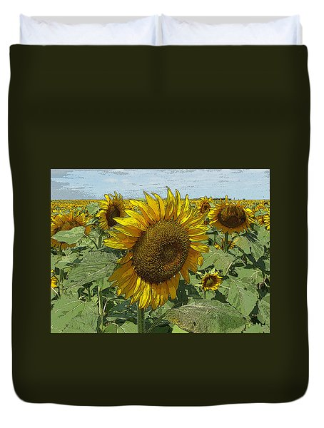 Sunflower Van David Style Duvet Cover
