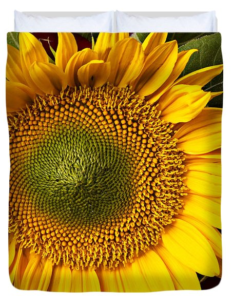 Sunflower With Old Key Duvet Cover