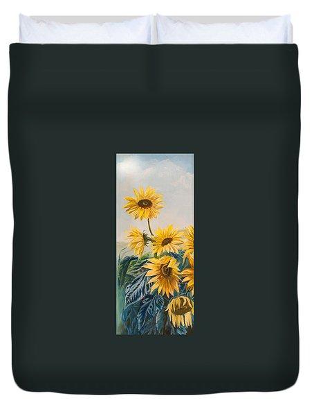 Sunflowers 1 Duvet Cover by Jana Goode
