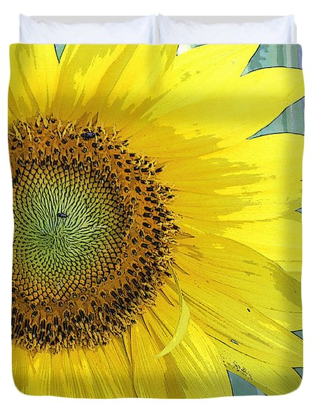 Sunflowers All Around Duvet Cover