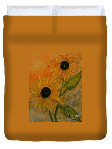 Sunflowers Duvet Cover by Carla Stein