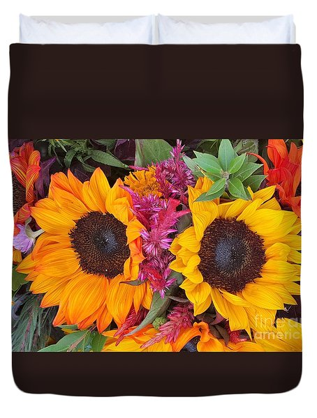 Sunflowers Eyes Duvet Cover