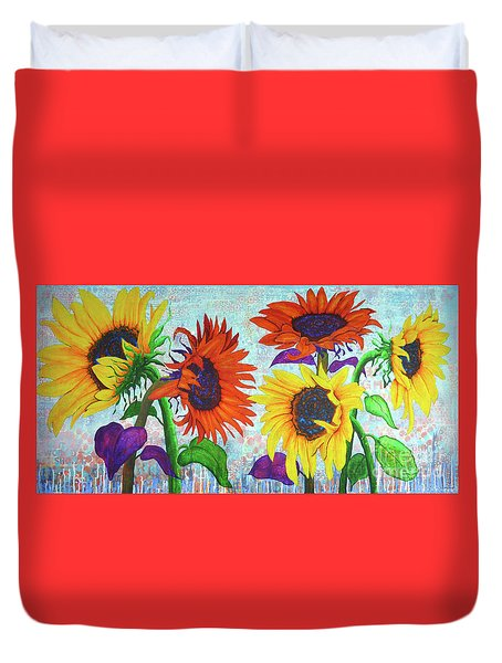 Sunflowers For Elise Duvet Cover