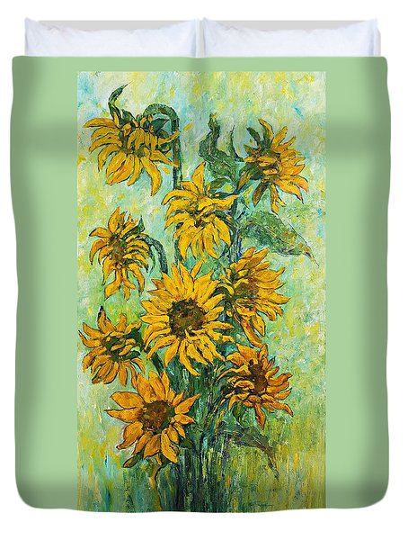 Sunflowers For This Summer Duvet Cover