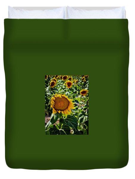 Sunflowers Glaze Duvet Cover