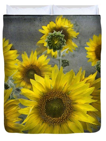 Sunflowers In Michigan Duvet Cover