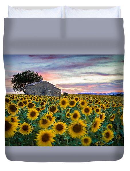 Sunflowers In Provence Duvet Cover