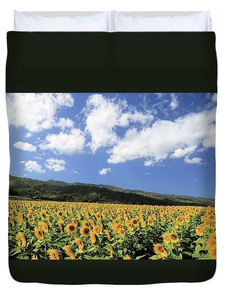 Sunflowers In Waialua Duvet Cover