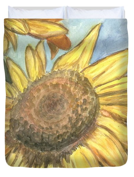 Sunflowers Duvet Cover by Jacqueline Athmann