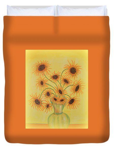 Sunflowers Duvet Cover by Marie Schwarzer