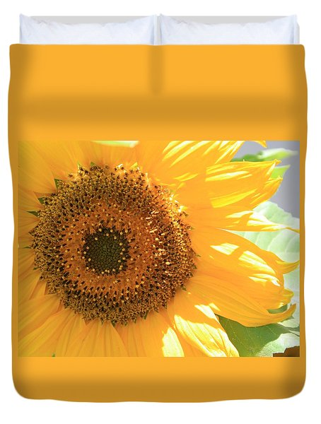 Duvet Cover featuring the photograph Sunflowers  by Marna Edwards Flavell