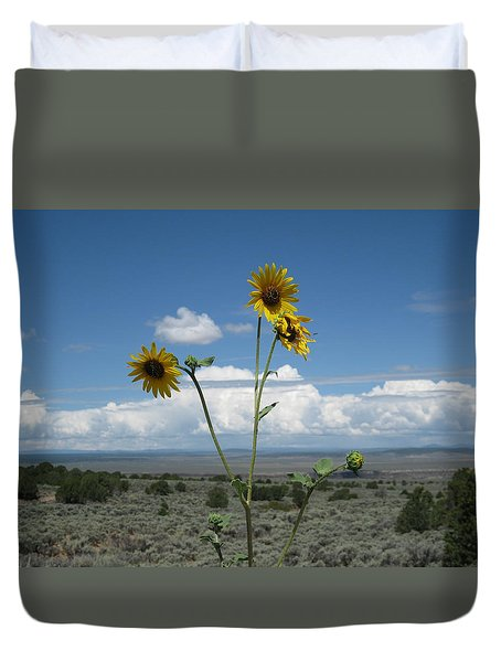 Sunflowers On The Gorge Duvet Cover