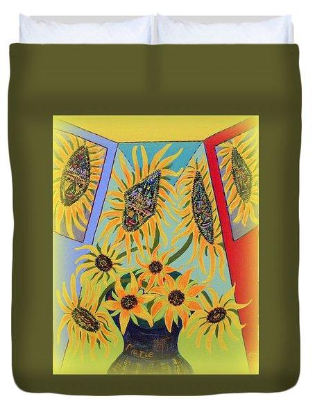 Sunflowers Rhapsody Duvet Cover