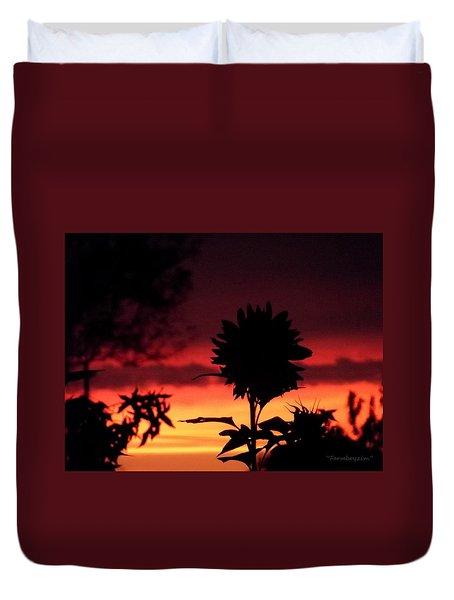 Sunflower's Sunset Duvet Cover