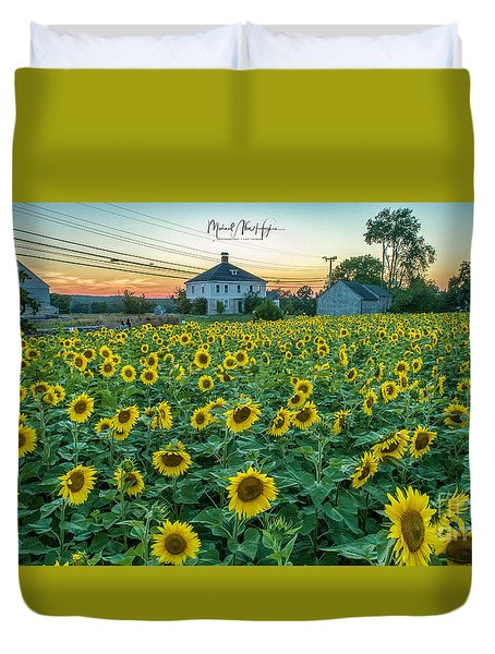 Sunflowers For Wishes  Duvet Cover