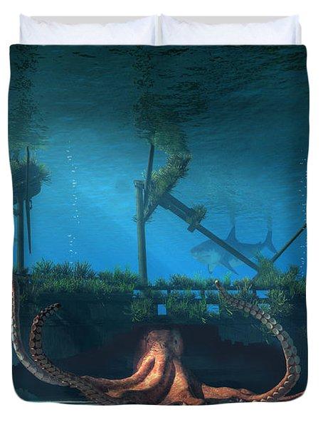 Sunken Duvet Cover by Daniel Eskridge