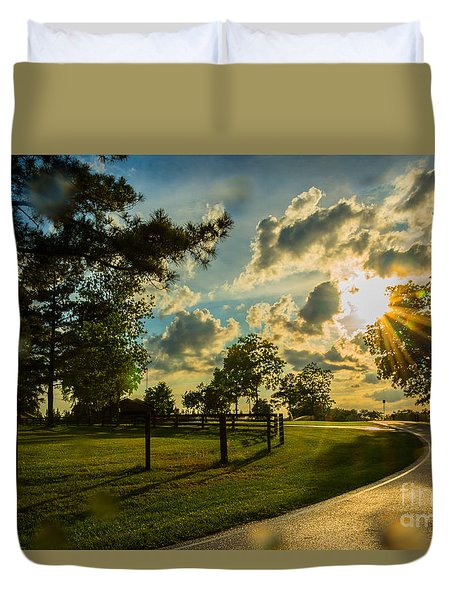 Sunlight Around The Corner Duvet Cover