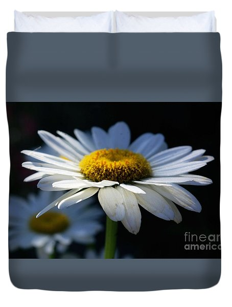 Duvet Cover featuring the photograph Sunlight Flower by John S