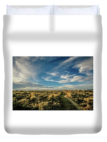 Duvet Cover featuring the photograph Sunlight For Photographers by Marilyn Hunt