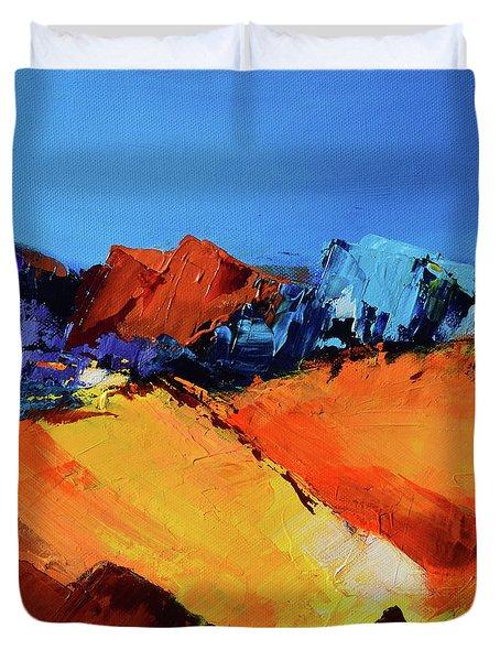Sunlight In The Valley Duvet Cover