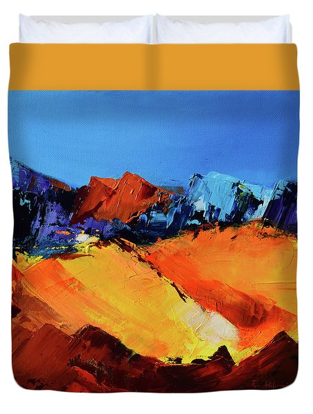 Sunlight In The Valley Duvet Cover