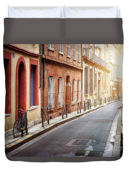 Duvet Cover featuring the photograph Sunlight In Toulouse by Elena Elisseeva