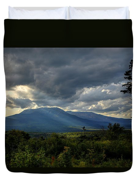 Sunlight On Katahdin Duvet Cover