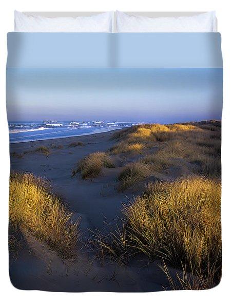 Sunlight On The Beach Grass Duvet Cover
