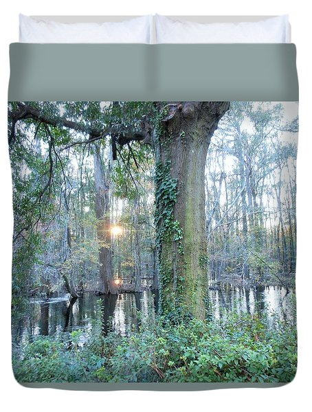 Sunlight On The Edisto River Duvet Cover by Kay Gilley