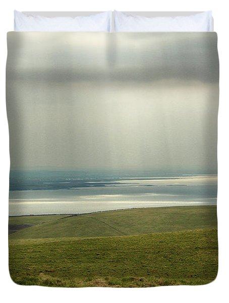 Sunlight On The Irish Coast Duvet Cover