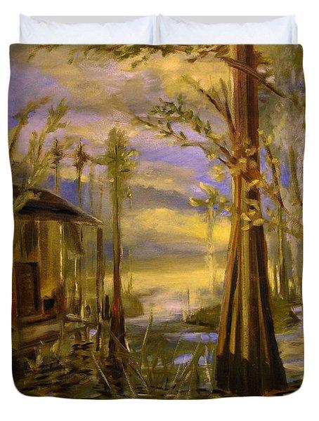 Sunlight On The Swamp Duvet Cover