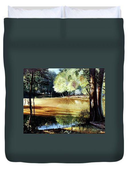 Sunlight On Village Creek Duvet Cover