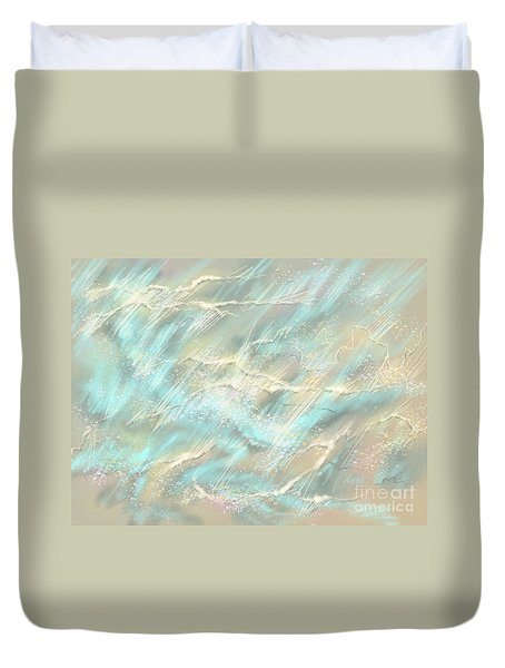 Duvet Cover featuring the digital art Sunlight On Water by Amyla Silverflame