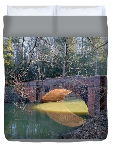 Sunlight Under Bridge Duvet Cover