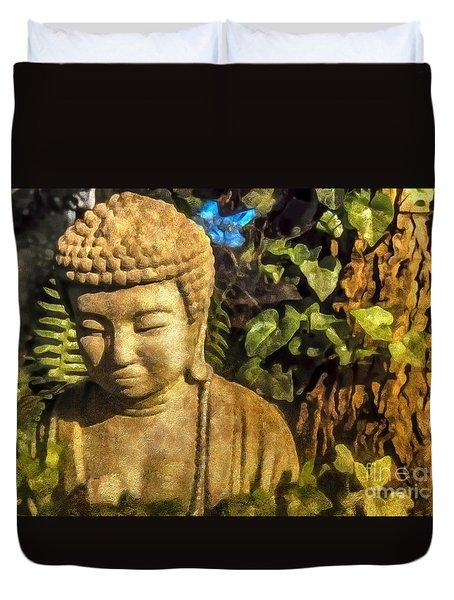Sunlit Buddha 2015 Duvet Cover