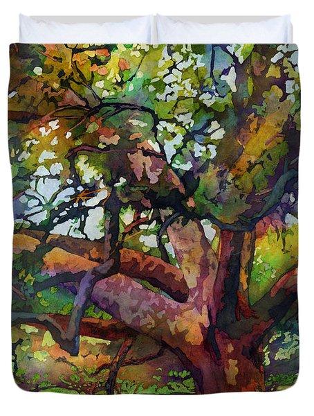 Sunlit Century Tree Duvet Cover