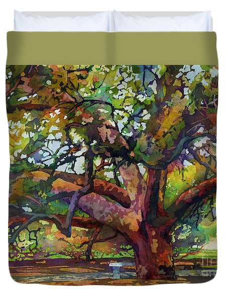 Sunlit Century Tree Duvet Cover by Hailey E Herrera