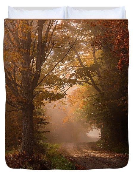Serenity Of Fall Duvet Cover