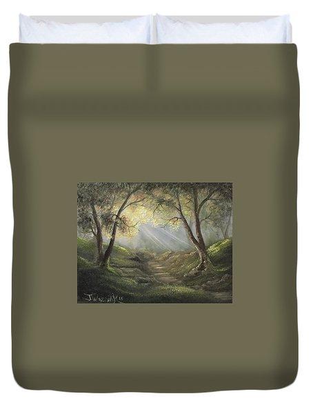 Sunlit Forrest  Duvet Cover