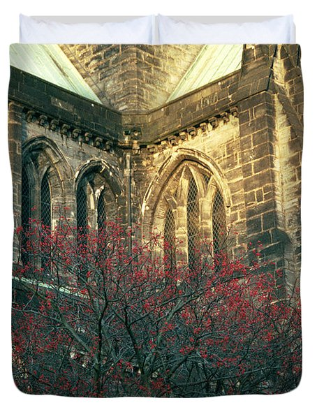 Sunlit Glasgow Cathedral Duvet Cover