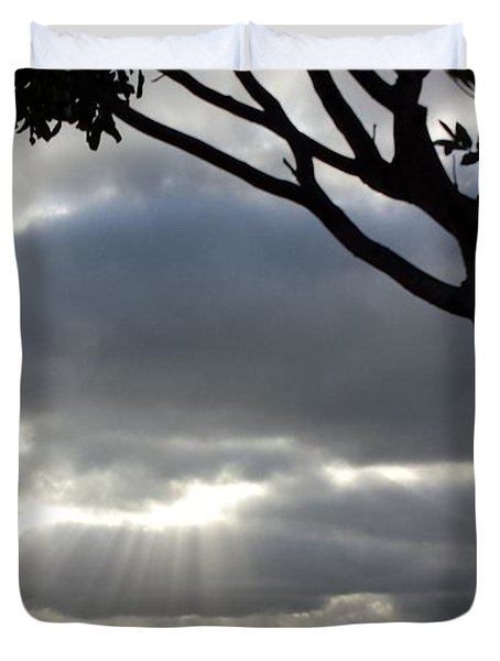 Sunlit Gray Clouds At Otay Ranch Duvet Cover